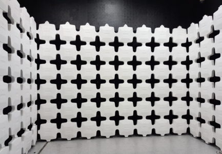 RF absorber in an anechoic chamber