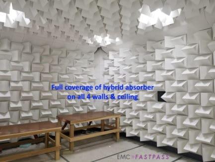 Hybird absorber on ferrite tile EMC testing chamber for sale