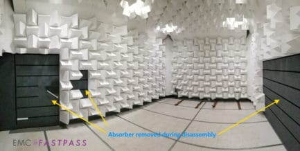 Panashield pre-compliance semi anechoic chamber used for sale