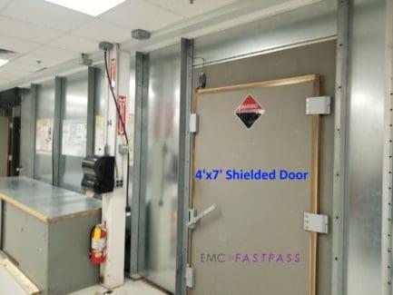 Used shielded door on semi anechoic chamber emc emi testing