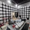 Inside anechoic EMC testing chamber
